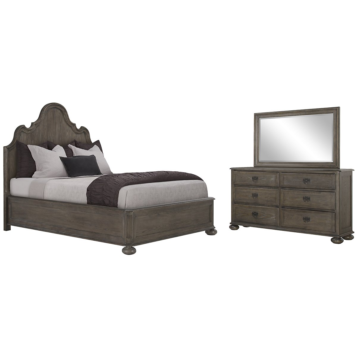Belgian Oak Light Tone Wood Platform Bedroom