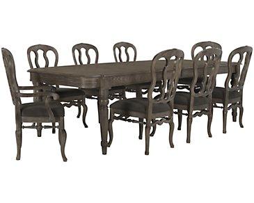 Belgian Oak Light Tone Rectangular Table & 4 Wood Chairs