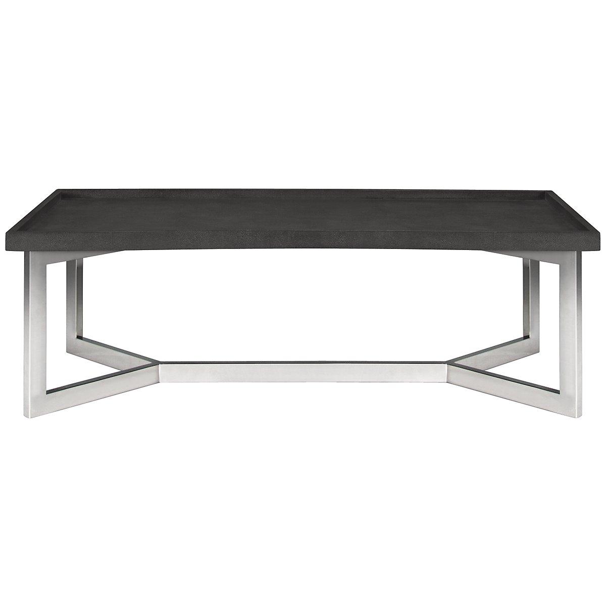 Stratton Dark Gray Rectangular Coffee Table