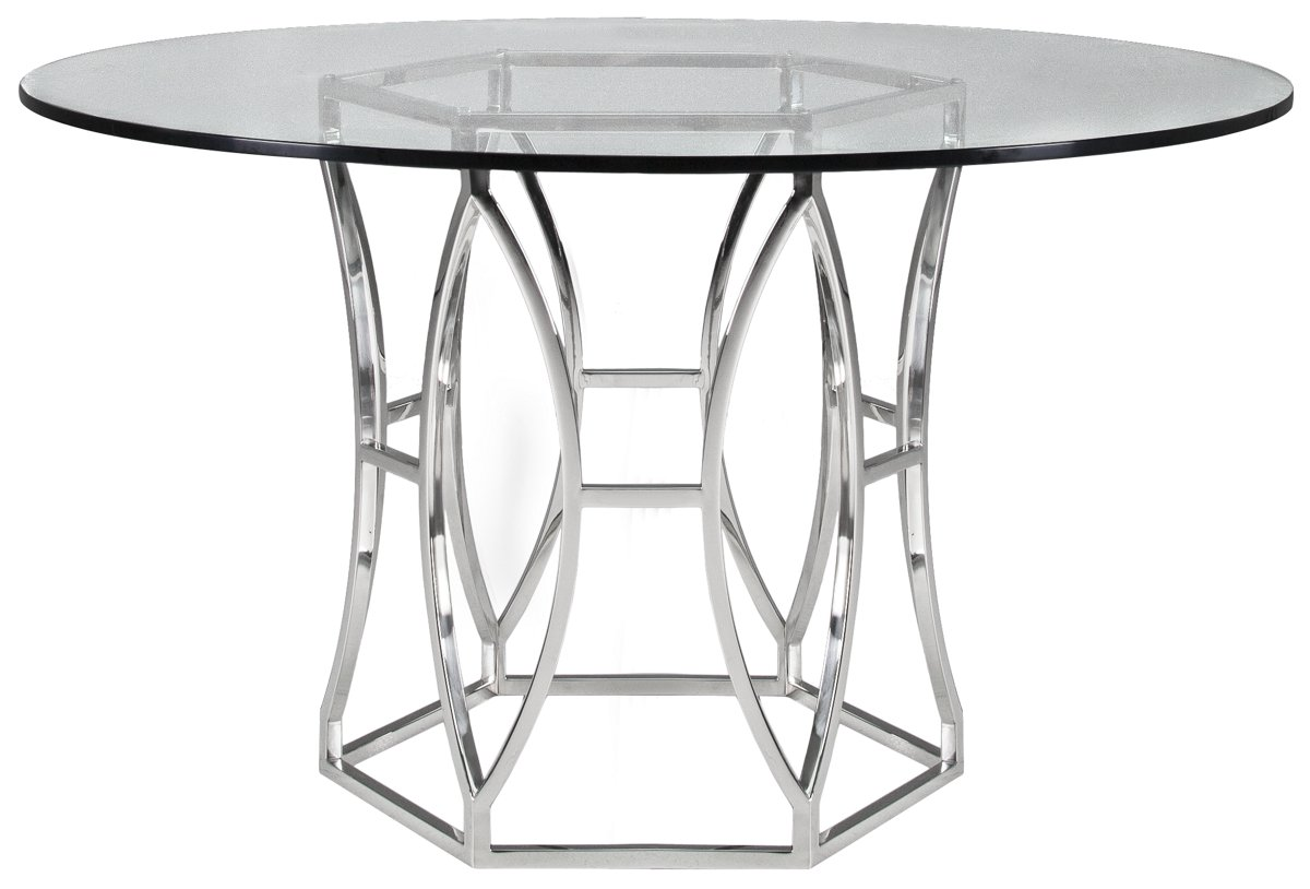 Argent Glass Round Table