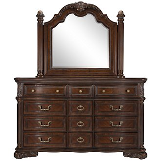 Regal Dark Tone Dresser & Mirror