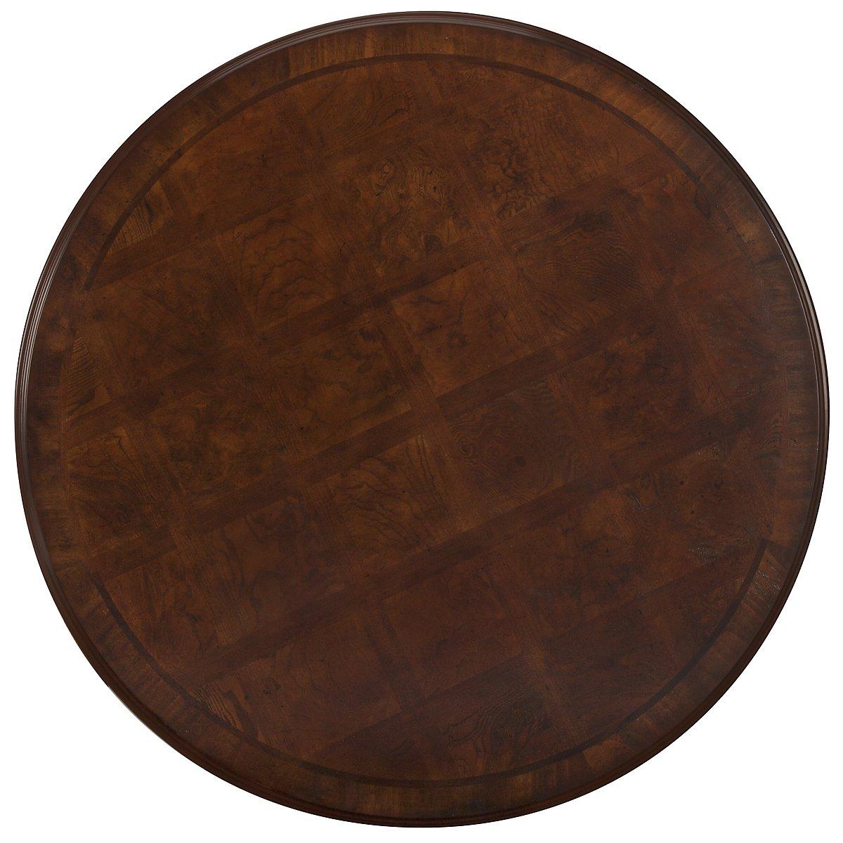 Regal Dark Tone Wood Round High/Low Table