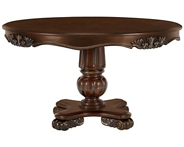 Regal Dark Tone Round High/Low Table