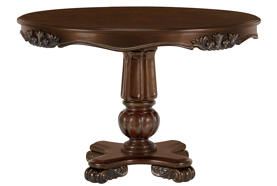 Tremendous Regal Dark Tone Round High Low Table Dining Room Tables Gmtry Best Dining Table And Chair Ideas Images Gmtryco