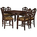 Regal Dark Tone High Table & 4 Wood Barstools