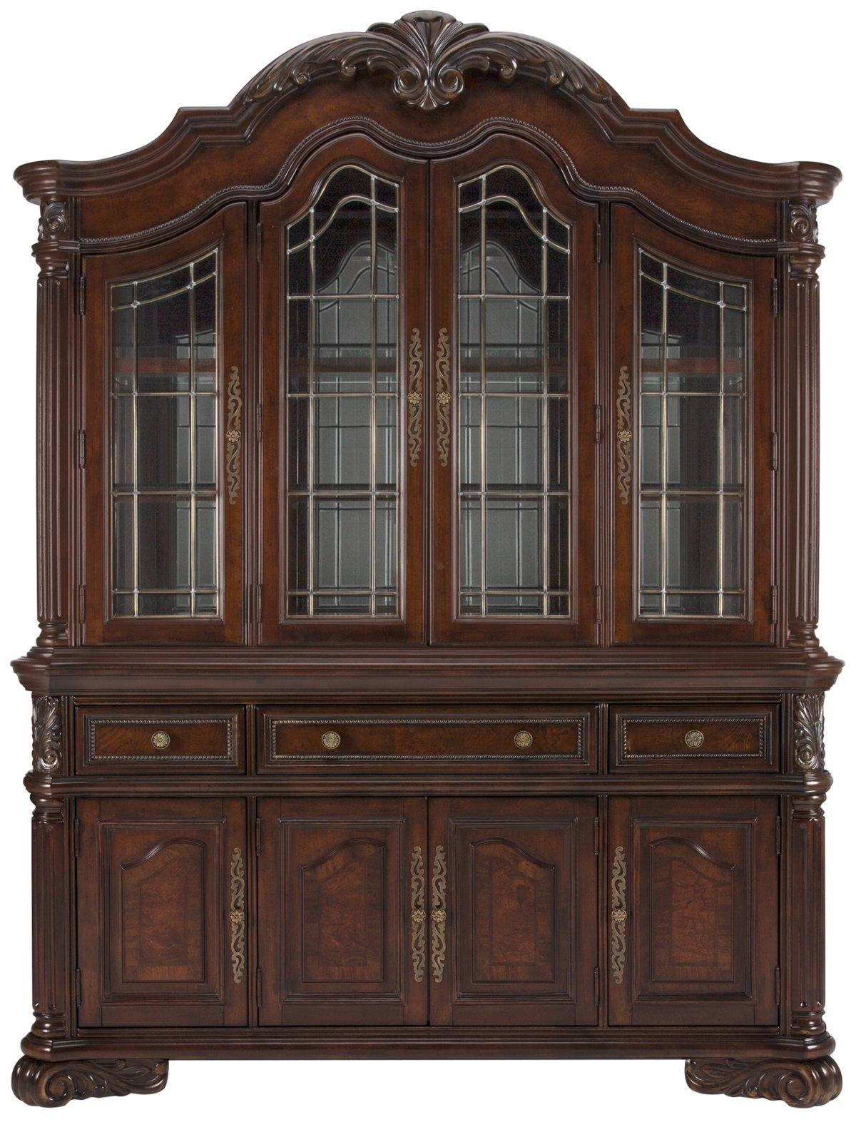 Regal Dark Tone Wood China Cabinet