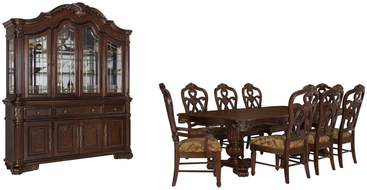 Regal Dark Tone Wood Dining Room