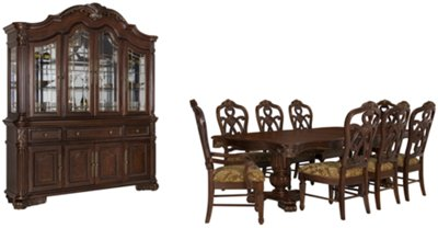 High Quality Regal Dark Tone Rectangular Dining Room