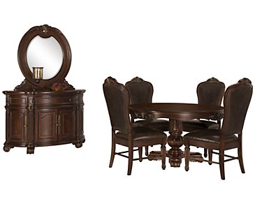 Regal Dark Tone Round Dining Room