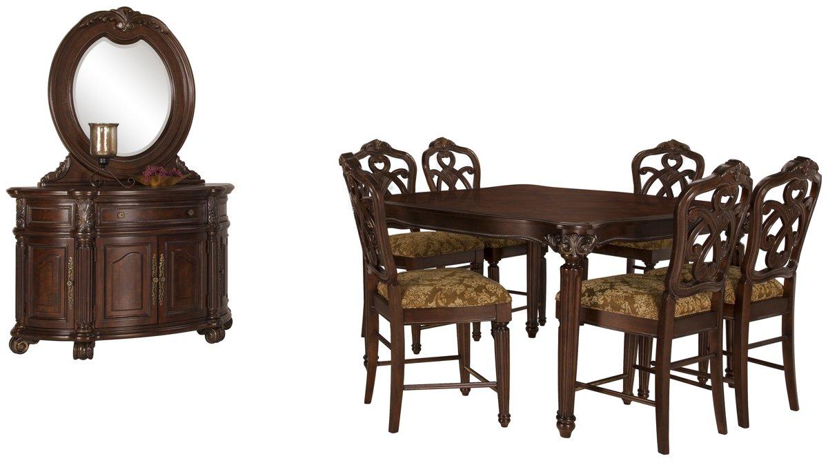 Regal Dark Tone Wood High Dining Room