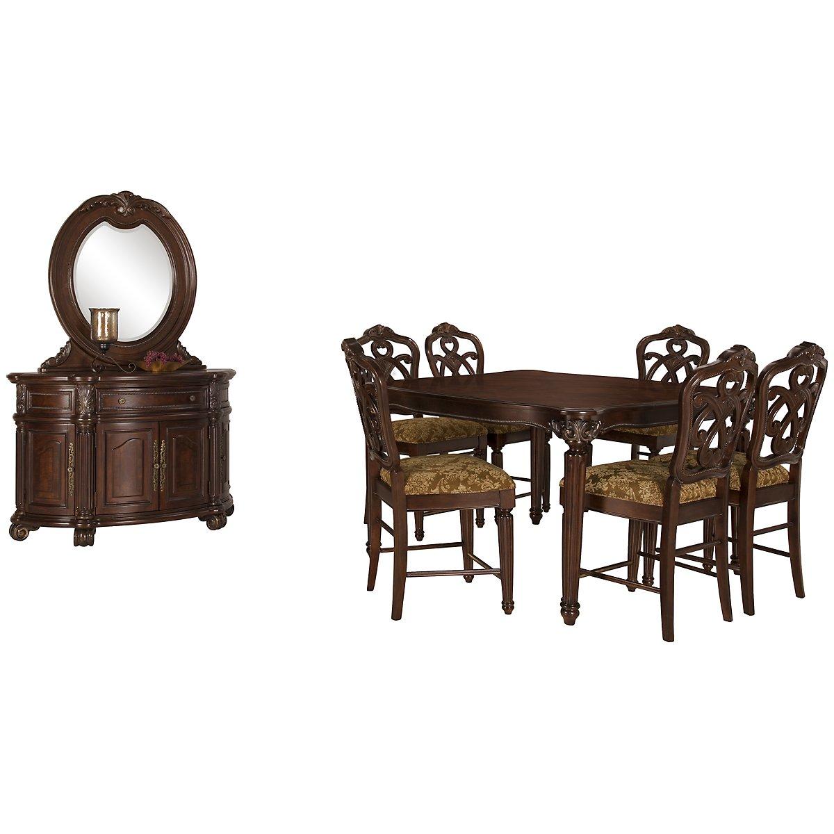 Regal Dark Tone High Dining Room