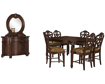 Regal Dark Tone High Dining Room