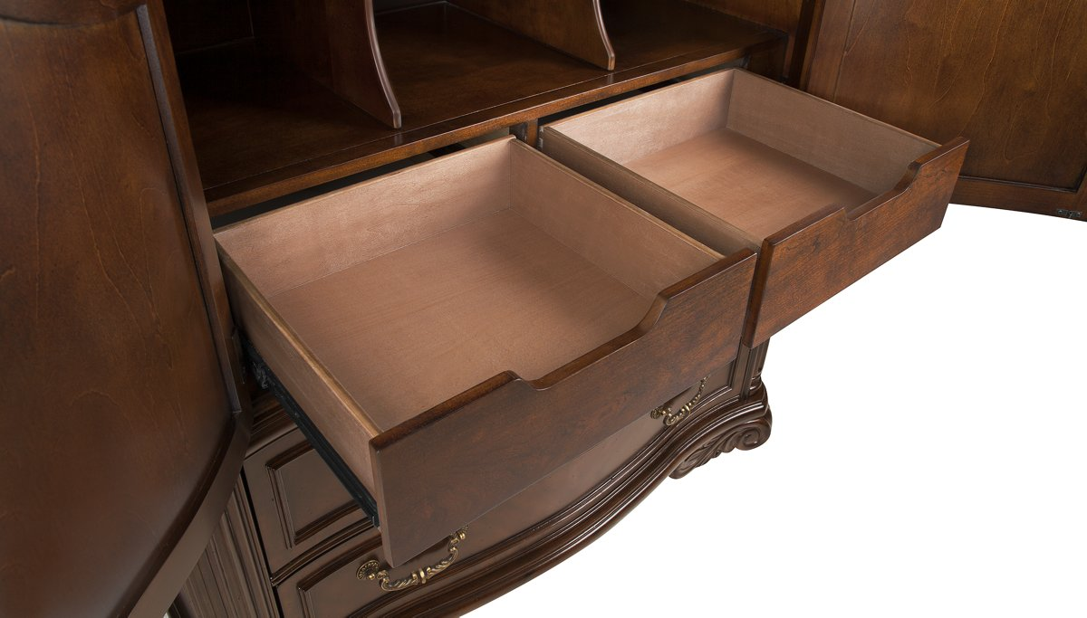Regal Dark Tone Wood Media Cabinet
