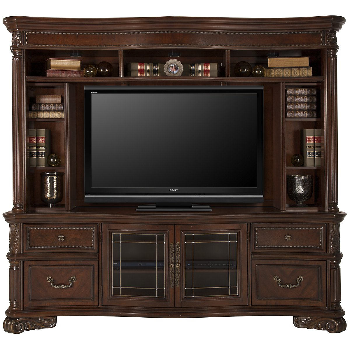Regal Dark Tone Wood Entertainment Unit