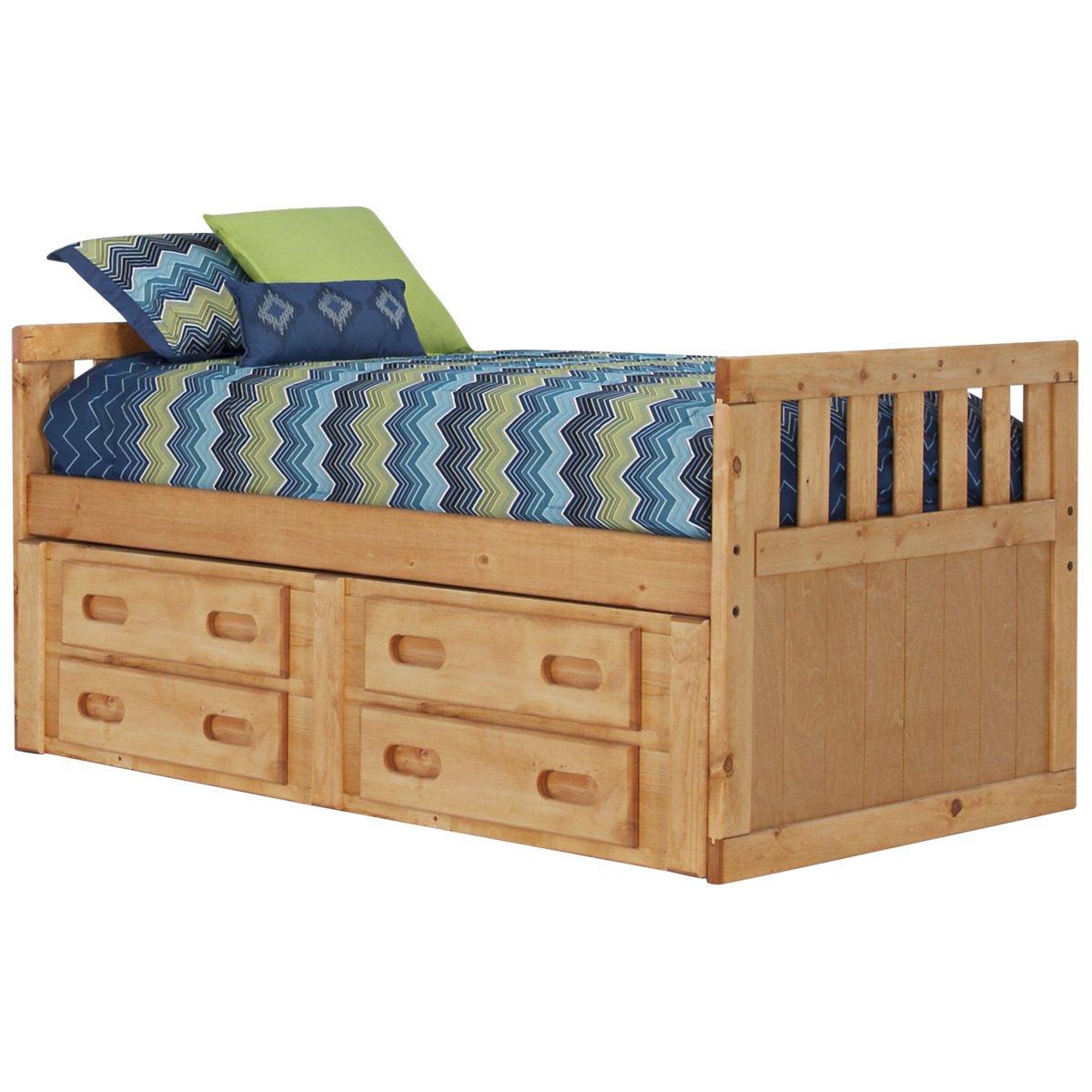 Cinnamon2 Mid Tone Panel Storage Bed