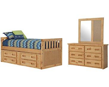 Cinnamon2 Mid Tone Panel Storage Bedroom