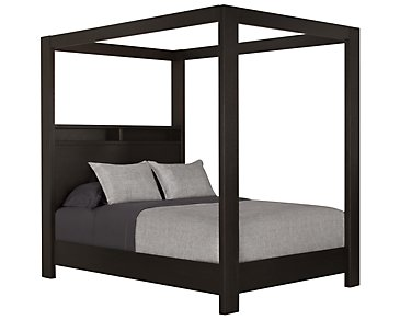 Tocara Dark Tone Canopy Bed