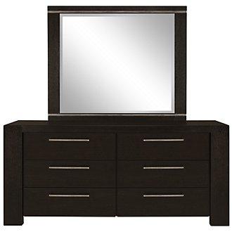 Tocara Dark Tone Dresser & Mirror
