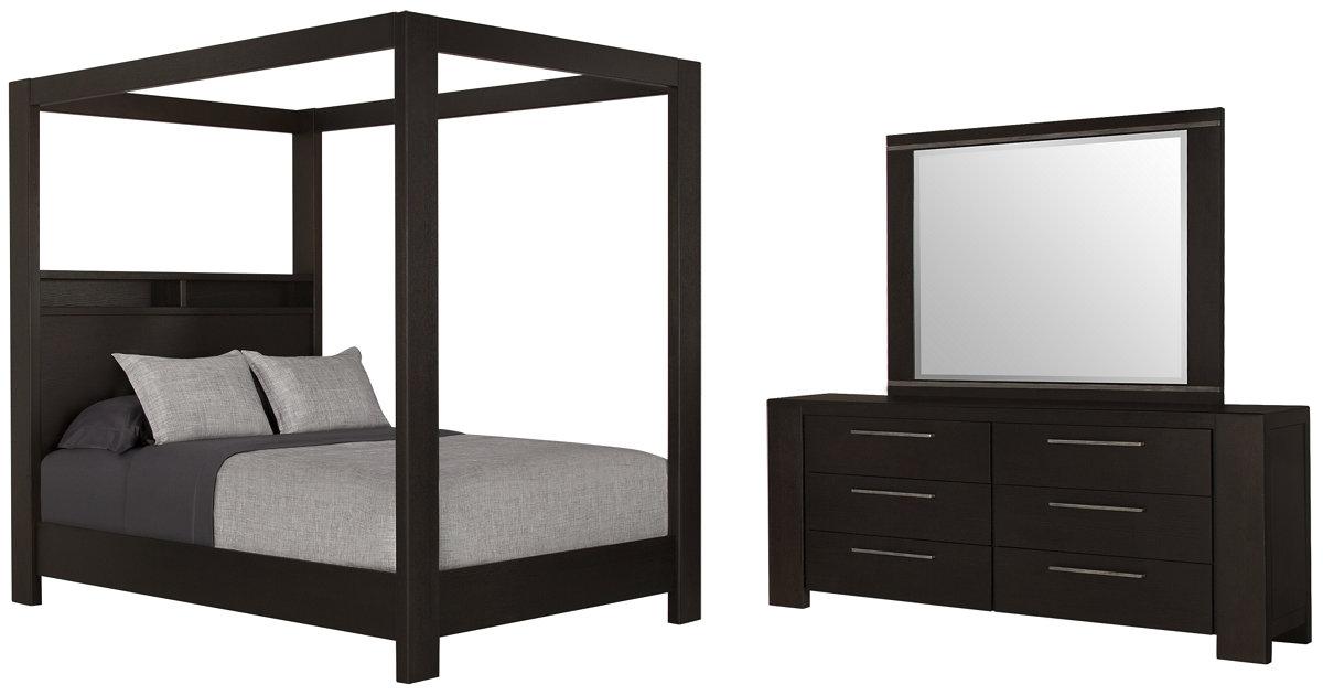 City Furniture Tocara Dark Tone Canopy Bedroom