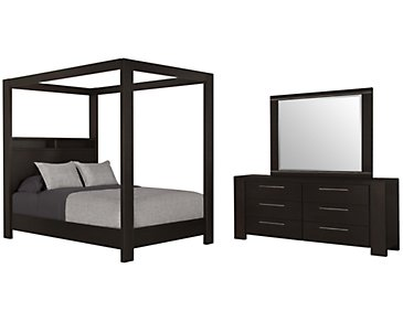 Tocara Dark Tone Canopy Bedroom