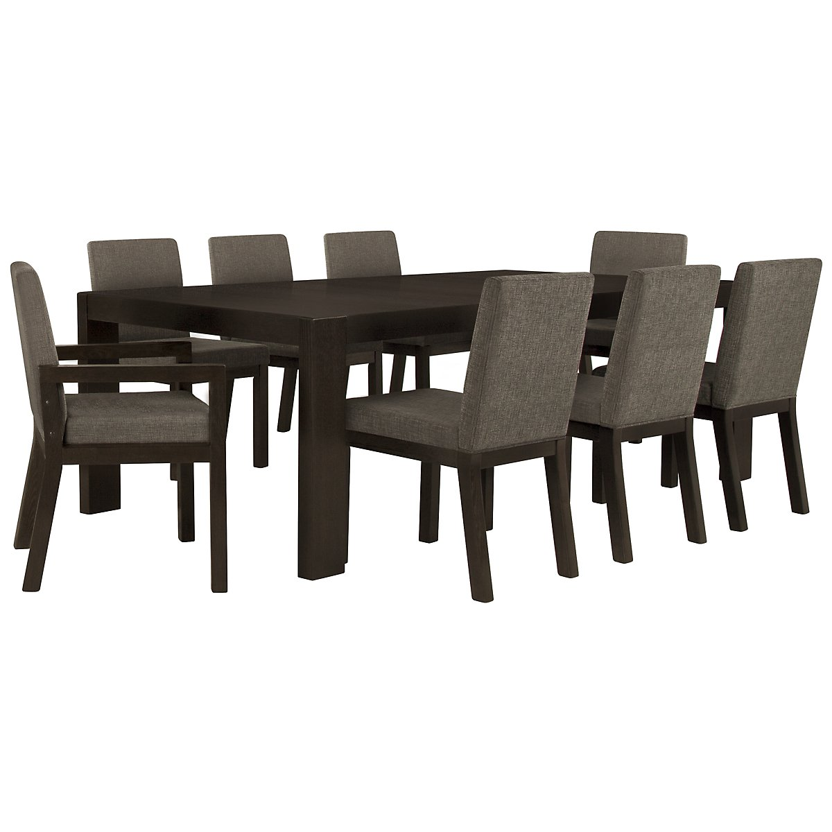 Tocara Dark Tone Table & 4 Upholstered Chairs