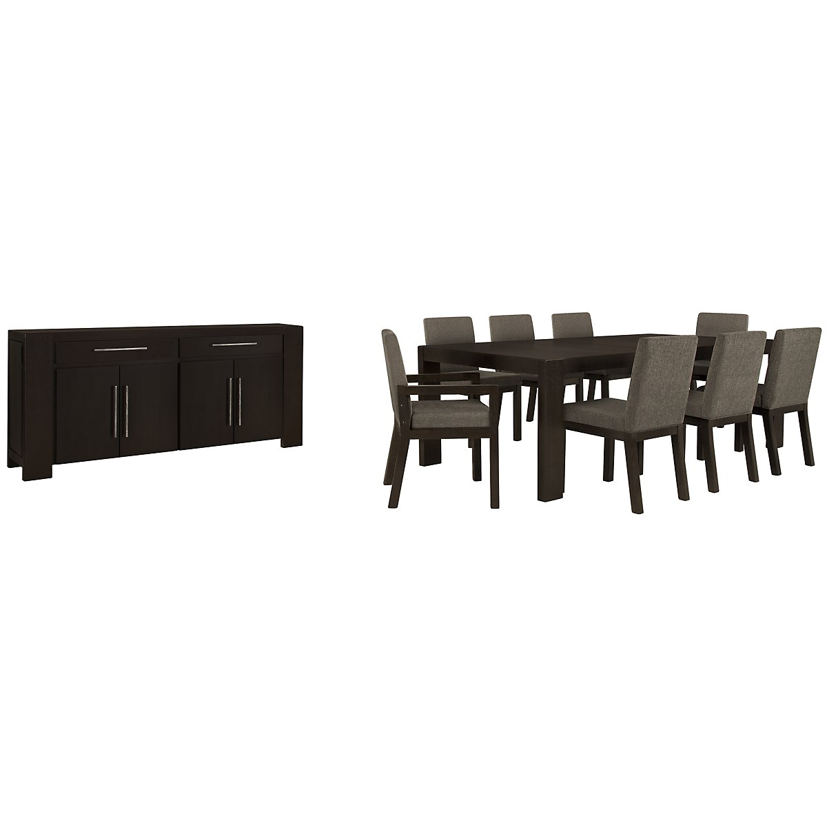 Tocara Dark Tone Rect Dining Room