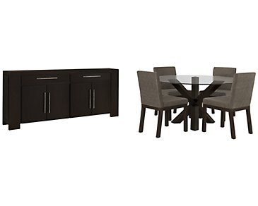Tocara Dark Tone Round Dining Room