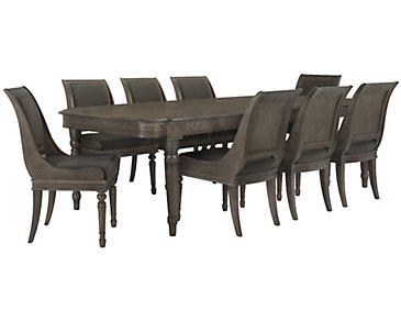 Belgian Oak Light Tone Rectangular Table & 4 Sloped Chairs