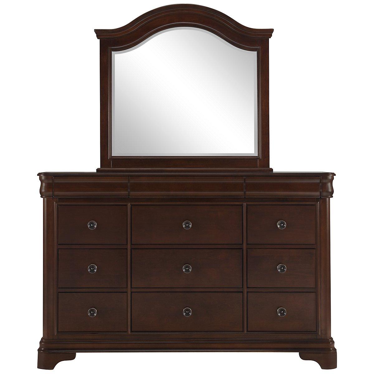 Cameron Dark Tone Dresser & Mirror