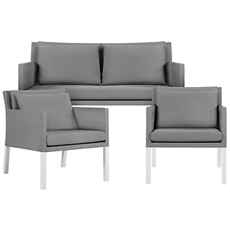 Lisbon Gray Outdoor Living Room Set
