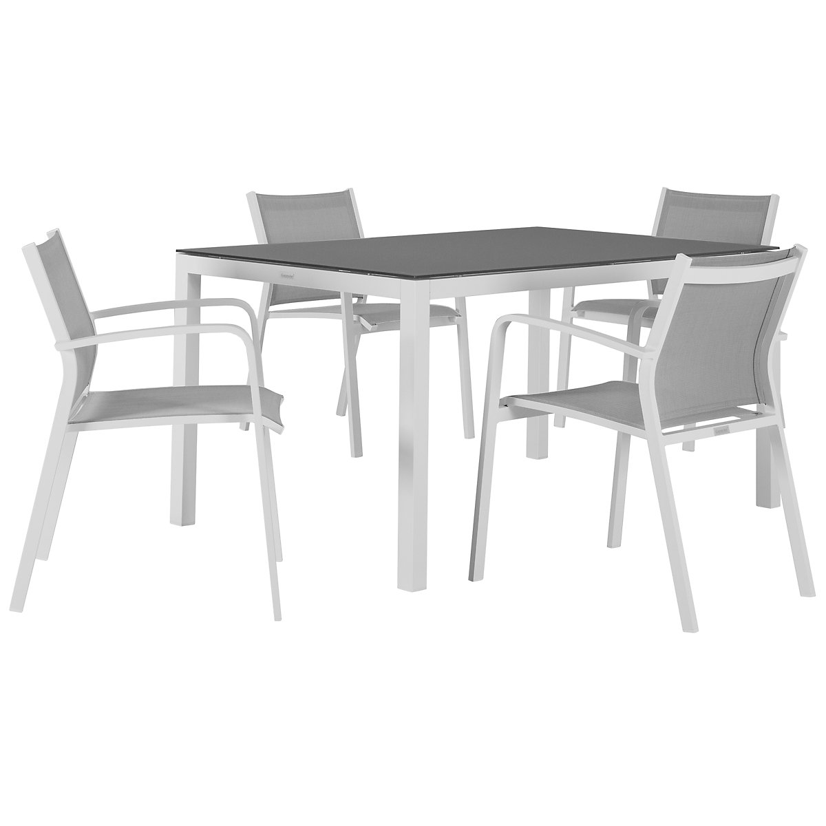 "Lisbon Gray 60"" Rectangular Table & 4 Chairs"