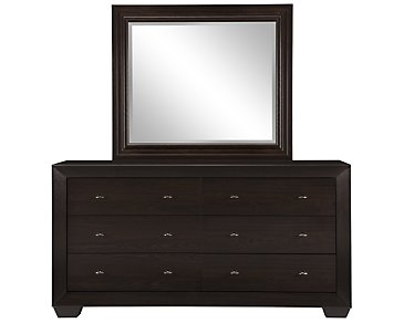 Adele2 Dark Tone Dresser & Mirror