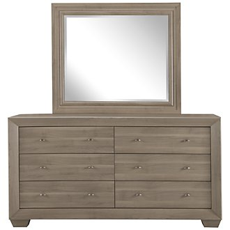 Adele2 Light Tone Dresser & Mirror