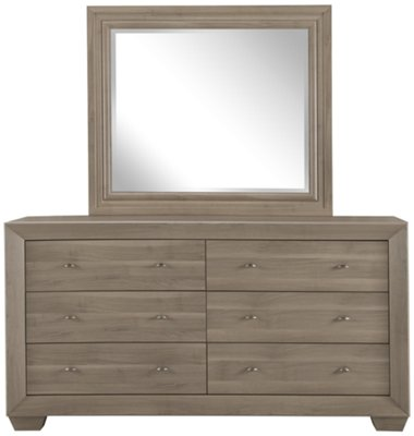 Adele2 Light Tone Dresser U0026 Mirror