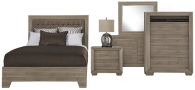 Adele2 Light Tone Dresser U0026 Mirror