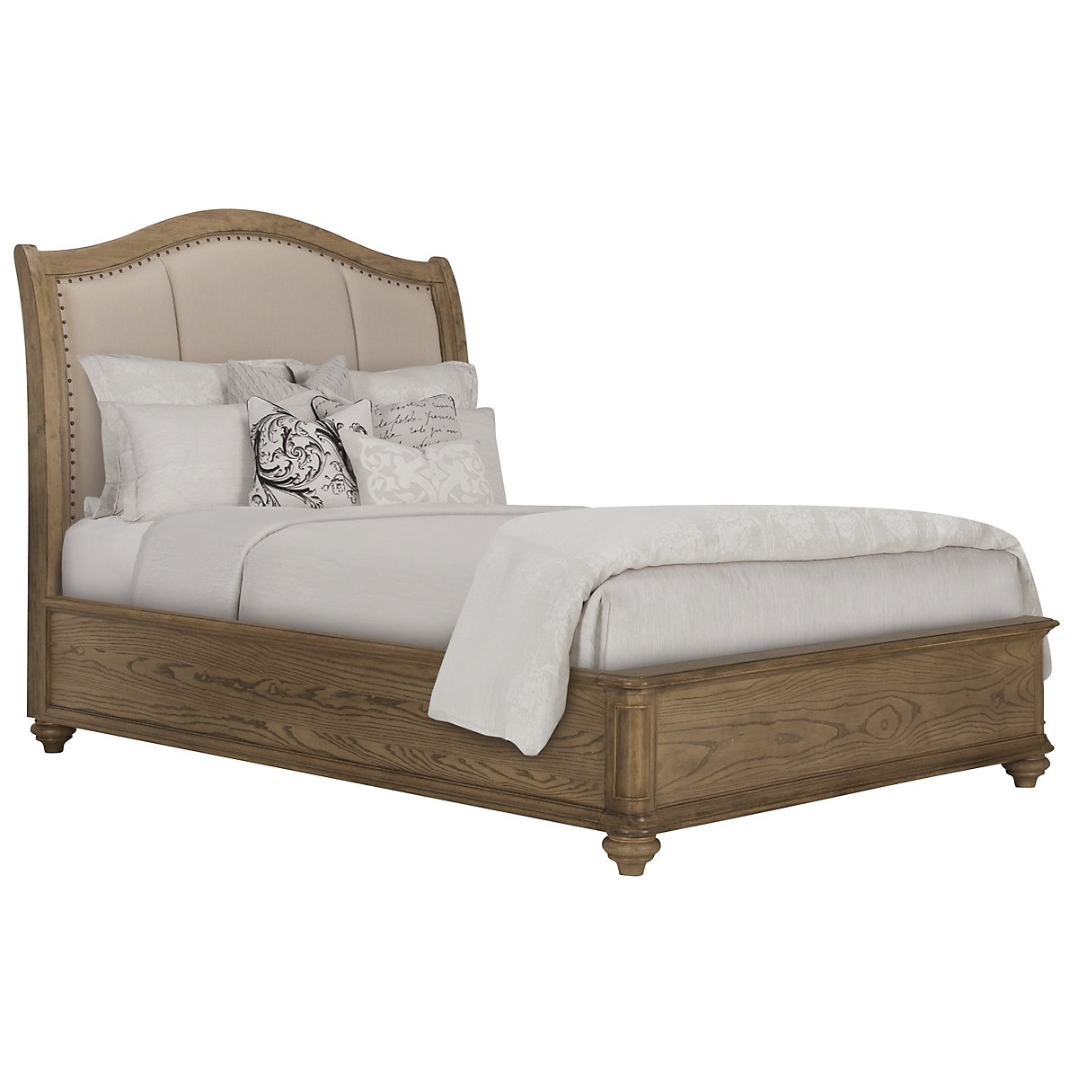 Coventry Light Tone Upholstered Platform Bed