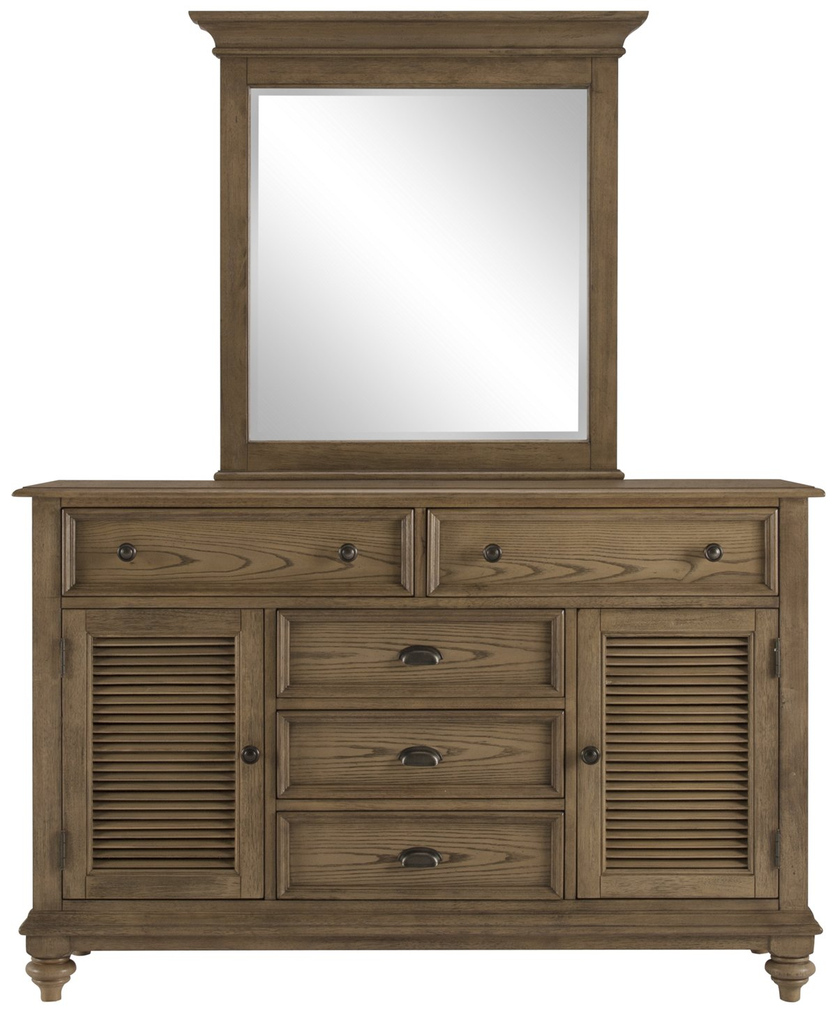 Coventry Light Tone Wood Dresser & Mirror