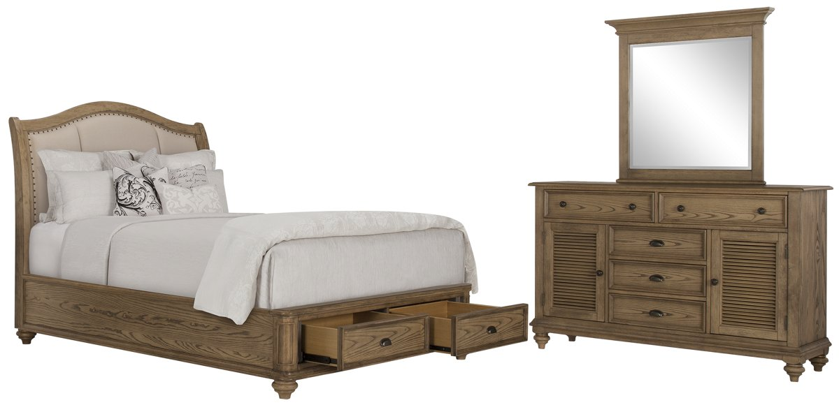 Coventry Light Tone Uph Platform Storage Bedroom