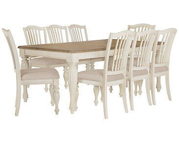 Coventry Two-Tone Rectangular Table & 4 Wood Chairs