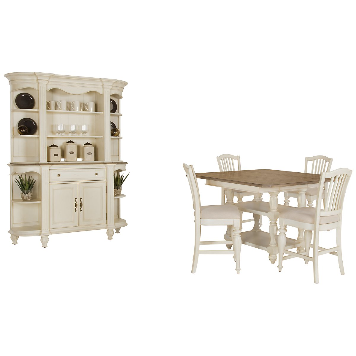 City Furniture: Coventry Two-Tone China Cabinet