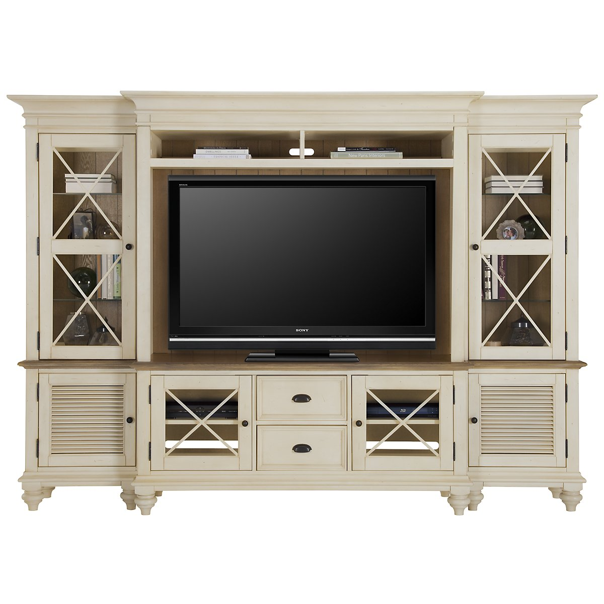 Coventry Two-Tone Entertainment Wall
