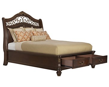 Tradewinds Dark Tone Platform Storage Bed