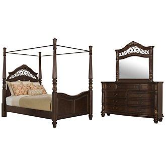 Tradewinds Dark Tone Canopy Bedroom