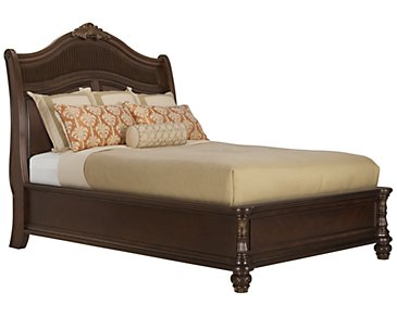 Tradewinds Dark Tone Woven Platform Bed
