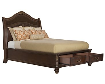 Tradewinds Dark Tone Woven Platform Storage Bed