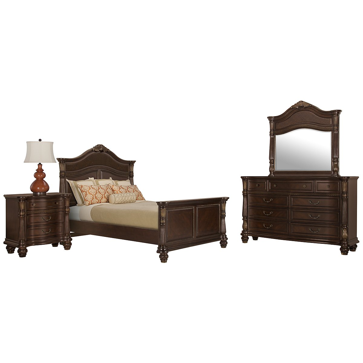 Tradewinds Dark Tone Woven Mansion Bedroom
