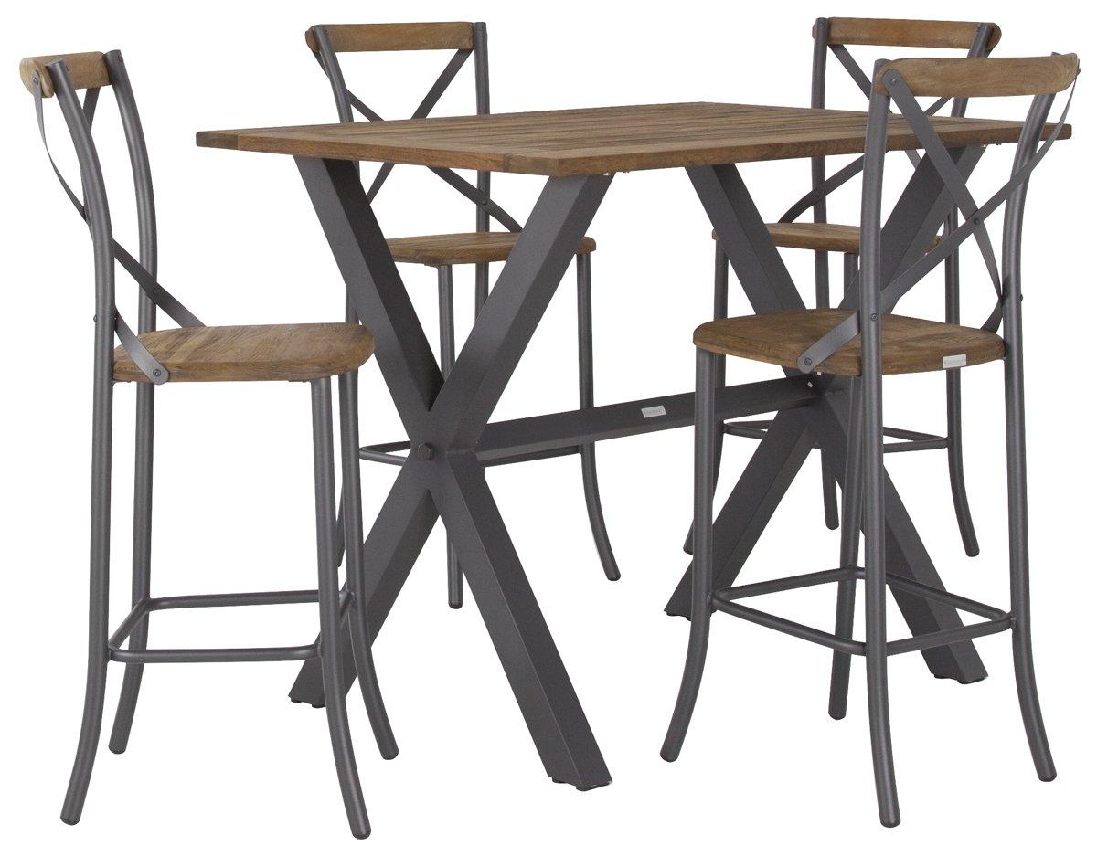 "Canyon Dark Tone 54"" Pub Table & 4 Barstools"