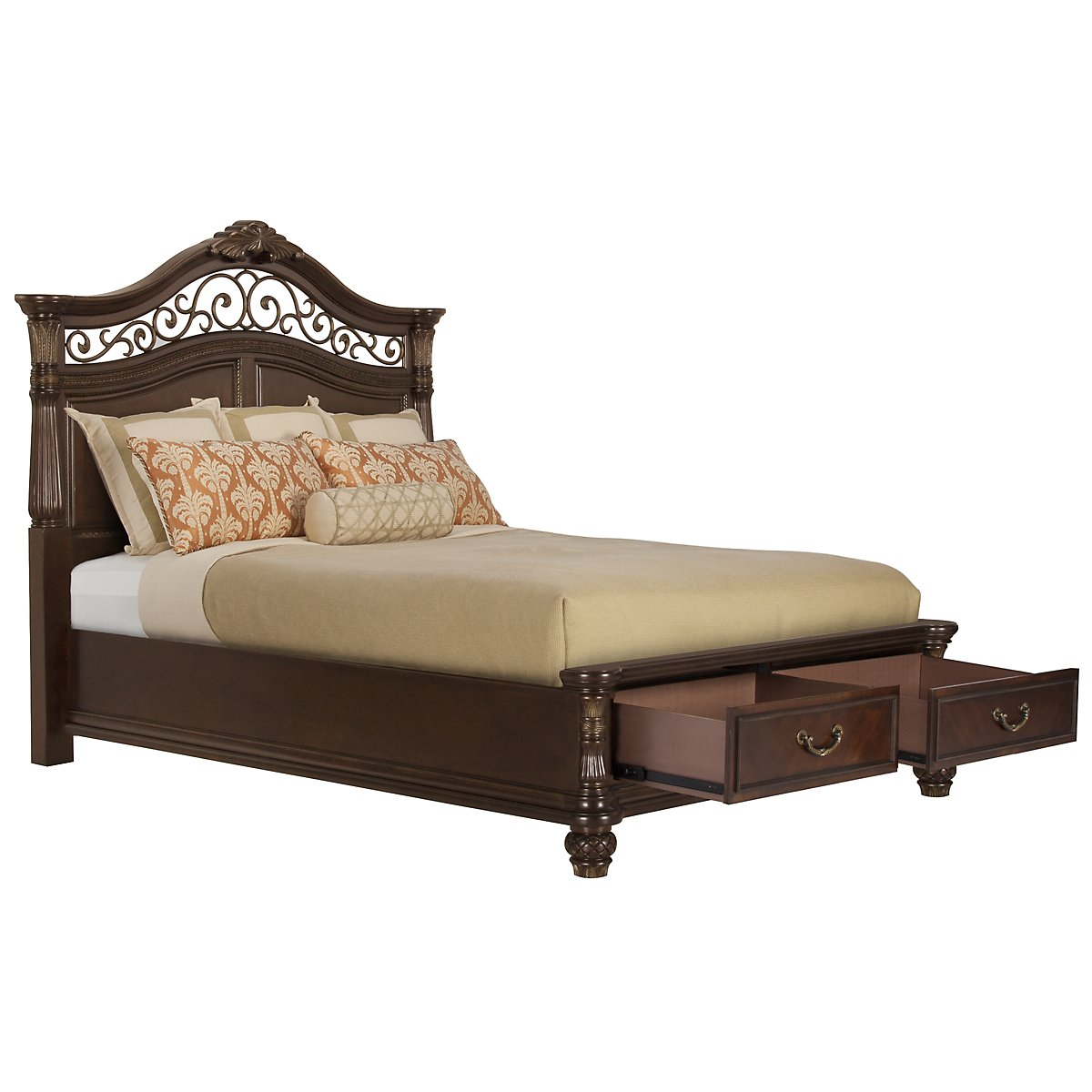 Tradewinds Dark Tone Mansion Storage Bed
