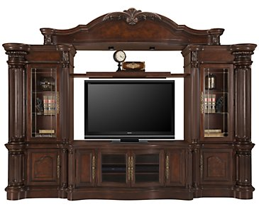 Regal3 Dark Tone Large Entertainment Wall