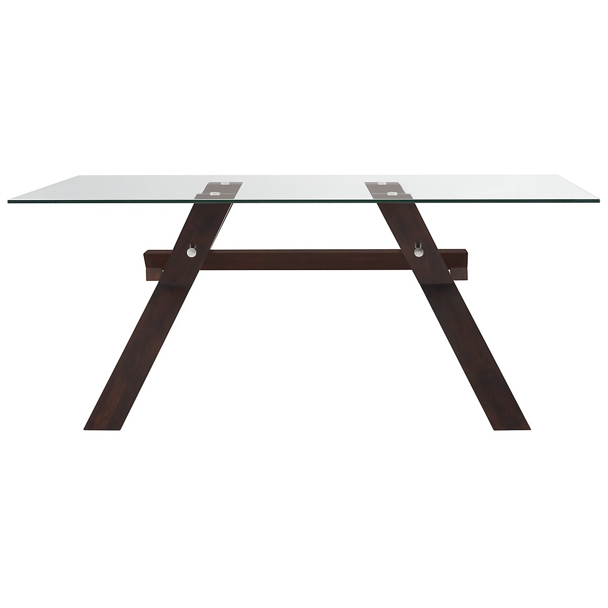 Berkley Dark Tone Glass Rectangular Table
